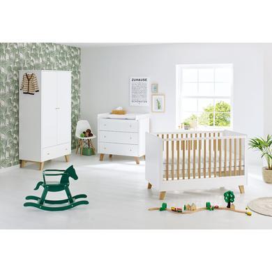 Pinolino dětský pokoj Pan široký dvoudveřový - bílá