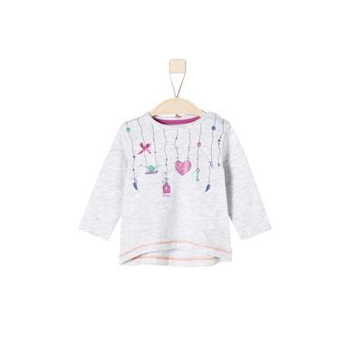 Babyoberteile - s.Oliver Girls Longsleeve white melange - Onlineshop Babymarkt