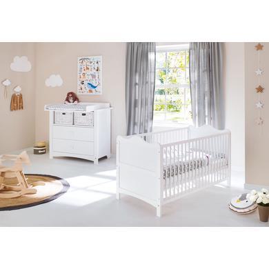 Babyzimmer - Pinolino Sparset Florentina breit 2 teilig weiß  - Onlineshop Babymarkt