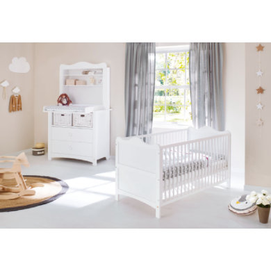 Babyzimmer - Pinolino Sparset Florentina breit inkl. Regalaufsatz 2 teilig weiß  - Onlineshop Babymarkt