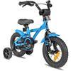 """PROMETHEUS BICYCLES® BLUE HAWK Kinderfahrrad 12"""" in Blau & Schwarz ab 3 Jahre mit Stützräder"""