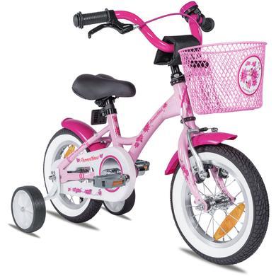 Kinderfahrrad - PROMETHEUS BICYCLES® PINK HAWK Kinderfahrrad 12'' ab 3 Jahre mit Stützräder in Rosa Weiß - Onlineshop