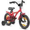 "PROMETHEUS BICYCLES® HAWK Kinderfahrrad 14"" , Rot-Schwarz mit Stützrädern"