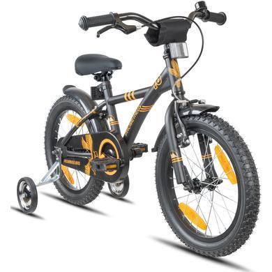 Kinderfahrrad - PROMETHEUS BICYCLES® HAWK Kinderfahrrad 16 , Schwarz matt Orange - Onlineshop