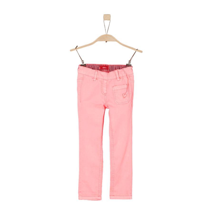 s.Oliver Girls Hose neon pink regular