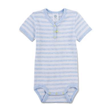 Babywaesche - Sanetta Boys Body blue melange - Onlineshop Babymarkt