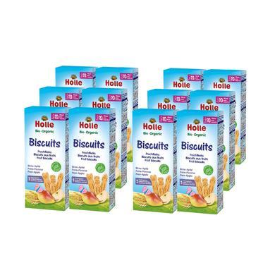 Holle Bio Biscuits Fruchtkeks Birne-Apfel 12 x ...