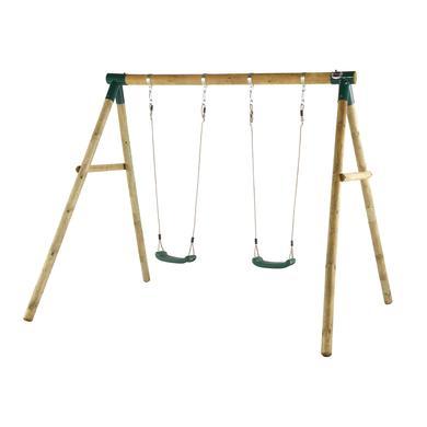 Plum Dubbele schommel van hout