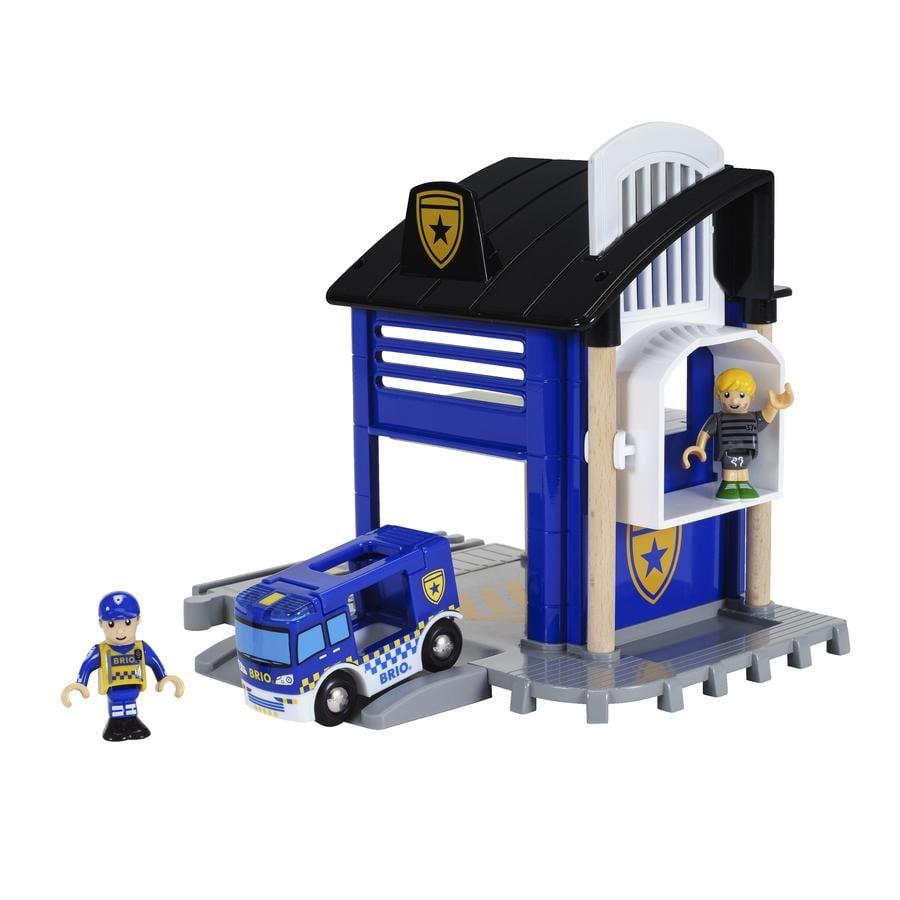 BRIO® WORLD Polizeistation mit Einsatzfahrzeug 33813