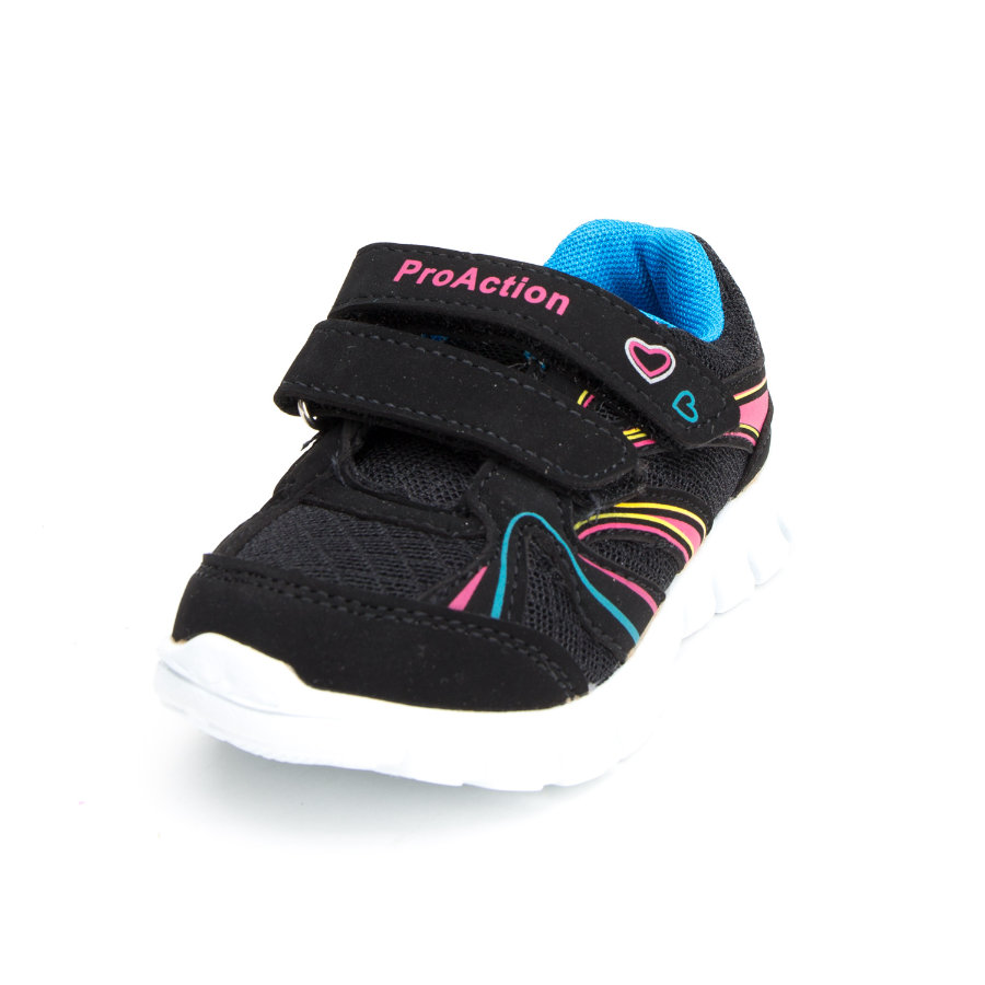 ProAction Girls Sneaker Herz schwarz pink blau