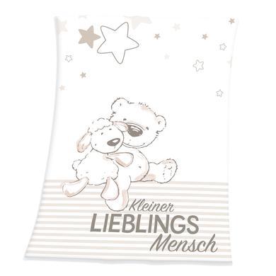 Kindertextilien - HERDING Flauschdecke Kleiner Lieblingsmensch 75 x 100 cm  - Onlineshop Babymarkt