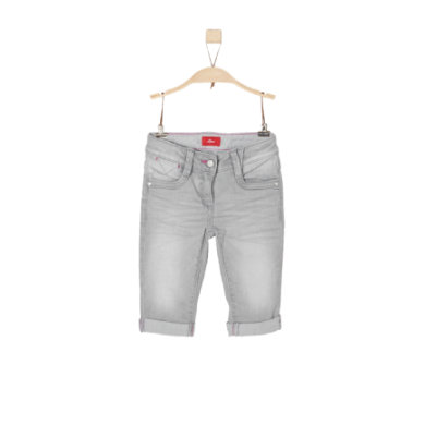 Minigirlhosen - s.Oliver Girls Jeans Caprihose grey denim stretch regular - Onlineshop Babymarkt