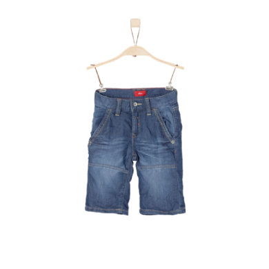Miniboyhosen - s.Oliver Boys Bermuda blue denim stretch slim - Onlineshop Babymarkt