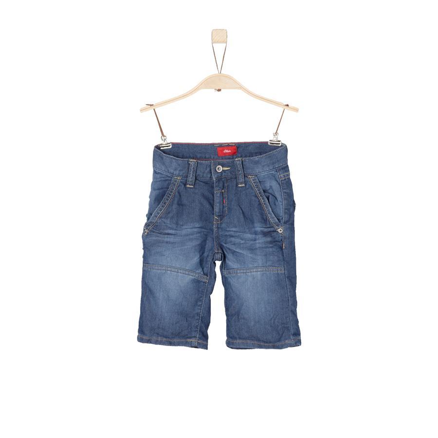 s.Oliver Boys Bermuda blue denim stretch slim