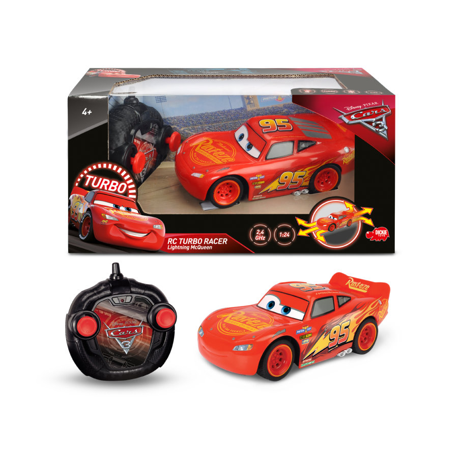 DICKIE Toys RC Cars 3 Turbo Racer Lightning McQ...