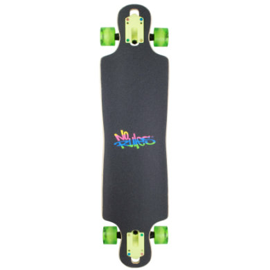 Authentic Sports Longboard ABEC 7 No Rules Neon mit Leuchtrollen bunt
