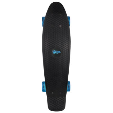 Authentic Sports Skateboard fun, No Rules, schwarz transparent