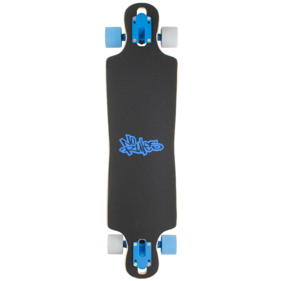 AUTHENTIC SPORTS Longboard compact ABEC 7, No Rules, blau