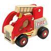 Bino Camion dei pompieri in legno