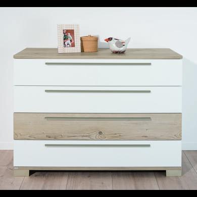 Schränke, Kommoden und Regale - PAIDI Kommode Carlo 3 Schubladen kreideweiß 1 Schublade Fichte  - Onlineshop Babymarkt