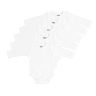 Babywaesche - JACKY Body 1 1 Arm 5er Pack weiß - Onlineshop Babymarkt