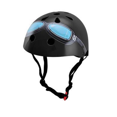 Fürfahrräder - kiddimoto® Helm Design Black Google, Gr. M - Onlineshop
