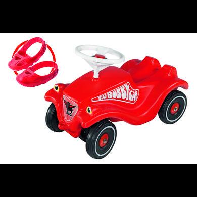 BIG Bobby Car Classic rot inklusive Flüsterrädern und Schuhschutz Shoe Care
