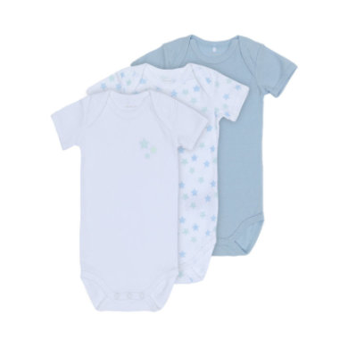 Babywaesche - name it Boys Body 3er Pack cashmere blue - Onlineshop Babymarkt