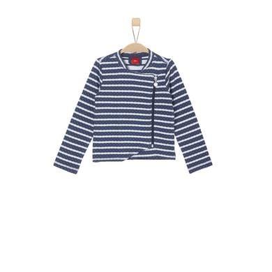 Minigirljacken - s.Oliver Girls Sweatjacke blue stripes - Onlineshop Babymarkt