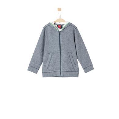 Miniboyjacken - s.Oliver Boys Sweatjacke blue melange - Onlineshop Babymarkt