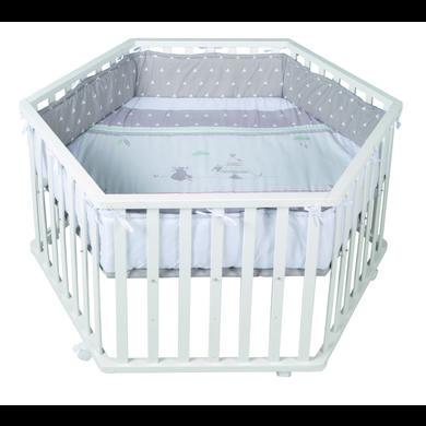Laufgitter - roba Laufgitter 6 eckig weiß Indibär  - Onlineshop Babymarkt
