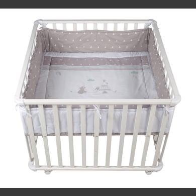 Laufgitter - roba Laufgitter 100 x 100 cm weiß Indibär  - Onlineshop Babymarkt