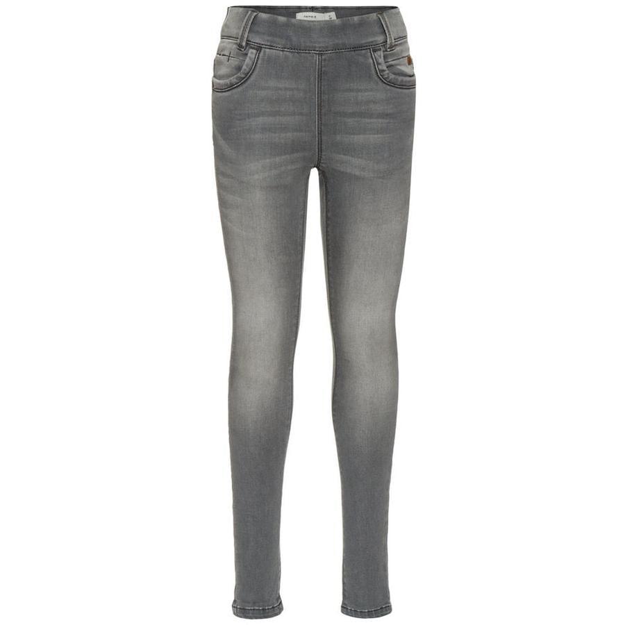 name it Girls Jeans Leggings Tonja light grey denim