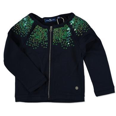 Minigirljacken - Tom Tailor Girls Sweatjacke Pailletten – blau – Gr.Kindermode (2 – 6 Jahre) – Mädchen - Onlineshop Babymarkt