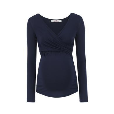 Schwangerschaftsmode für Frauen - bellybutton Stillshirt LAILA, langarm blau Gr.M Damen  - Onlineshop Babymarkt