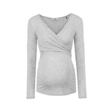 Schwangerschaftsmode für Frauen - bellybutton Stillshirt LAILA, langarm grau Damen  - Onlineshop Babymarkt