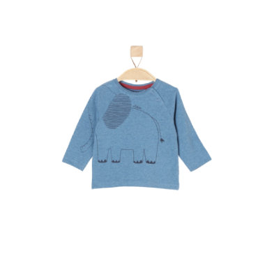 Babyoberteile - s.Oliver Boys Langarmshirt blue melange - Onlineshop Babymarkt