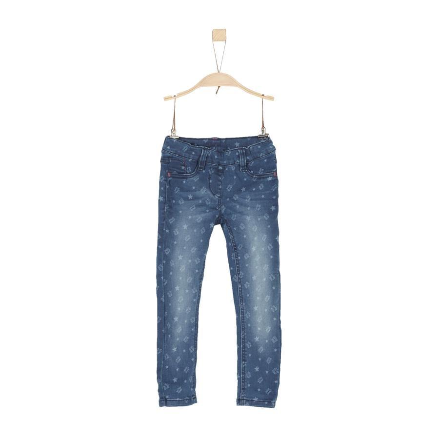 s.Oliver Girls Hose blue denim stretch