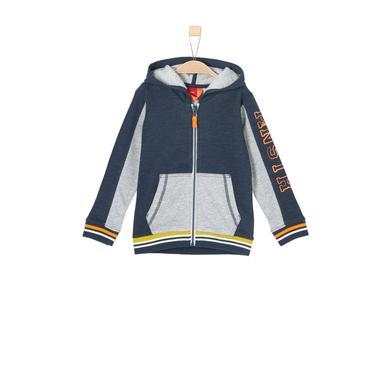 Miniboyjacken - s.Oliver Boys Sweatjacke blue multicolored stripes - Onlineshop Babymarkt