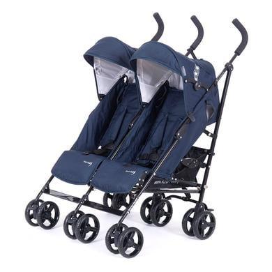 KNORR-baby sourozenecký kočárek Side by Side 2018 modrý - modrá