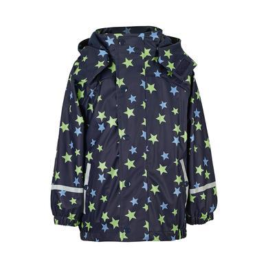 Babyregenwintermode - Sterntaler Boys Regenjacke mit Microfleece–Innenjacke Alloverprint marine - Onlineshop Babymarkt