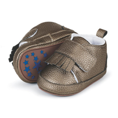 Babyschuhe - Sterntaler Girls Baby–Schuh Lederimitat Fransen khaki - Onlineshop Babymarkt