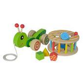 Spielzeug Holzspielzeug Eichhorn Nachziehtier Schnecke Babyspielzeug Schiebetier Holzspielzeug Ziehtier