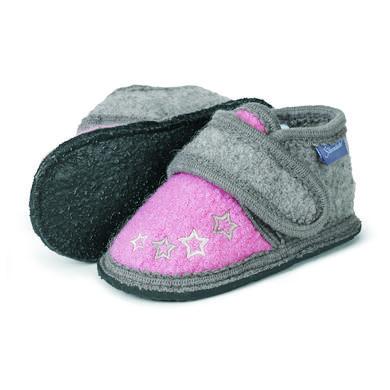 Sterntaler Girls Hausschuhe Filz Stickmotiv geranie – rosa pink – Gr.Babymode (6 – 24 Monate) – Mädchen