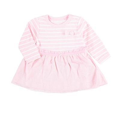 Staccato Girls Kleid rose melange Streifen rosa pink Gr.Newborn (0 6 Monate) Mädchen