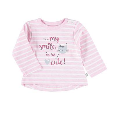 Staccato Girls Langarmshirt rose melange Streifen rosa pink Gr.Newborn (0 6 Monate) Mädchen