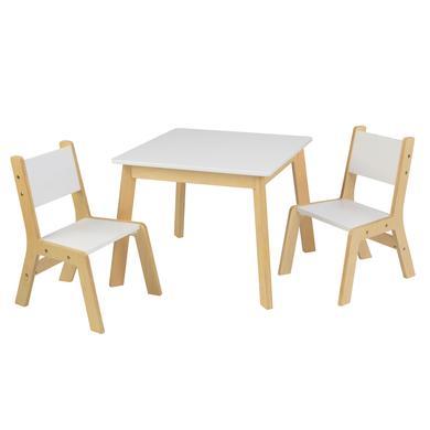 Moderner Tisch Mit 2 Stühlen   Weiß