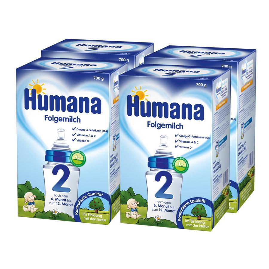Humana Folgemilch 2 4 x 700 g ab dem 6. Monat