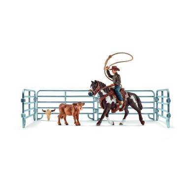 Schleich Kovboj s lasem na koni 41418