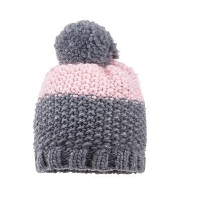 Minigirlaccessoires - maximo Girls Mütze Pompon mittelgraumelange zartrosa - Onlineshop Babymarkt